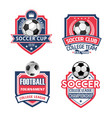icons for soccer cup or football sport club vector image