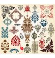 Retro floral design elements vector image
