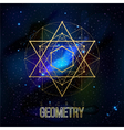 Sacred geometry forms on space background vector image