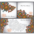 set of three flower background design vector image