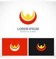 happy man leader success logo vector image
