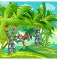 Childrens of the jungle with a sleeping monkey vector image vector image