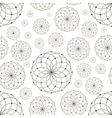 Dotted seamless pattern with circles and nodes vector image