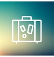 Travel luggage thin line icon vector image vector image
