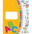 School notebook vector image vector image