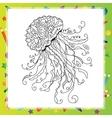 Hand drawn artistic sea Jellyfish vector image
