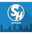 Superhero sign City design graphic vector image