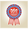 American patriotic election label vector image