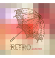 Beautiful retro umbrella vector image