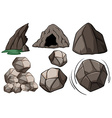 Cave and rocks vector image