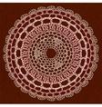 Elegant lacy doily vector image