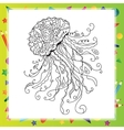 Hand drawn artistic sea Jellyfish vector image