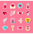 Happy Valentine Day Stickers vector image