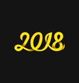 new year 2018 number monoline handwritten vector image