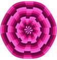 Pink op art wheel shape vector image