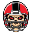 football player skull vector image