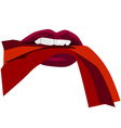 Red sexy lips vector image