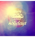 Summer holidays sunset with defocused lights vector image