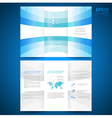 brochure geometric abstract perspective vector image vector image