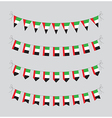 uae bunting vector image vector image