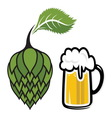 Hops beer vector image