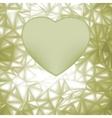 elegant heart frame vector image vector image