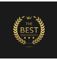 The Best award label vector image