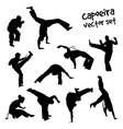 capoeira set vector image