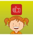 Children and technology design vector image