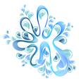 abstract bright splash vector image vector image