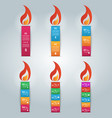 candle icon with the flame vector image