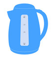 electric kettle blue icon vector image