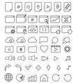 line icon set vector image
