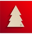 modern cardboard christmas tree vector image