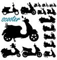 scooter motorcycles vector image