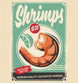 seafood restaurant poster design vector image
