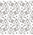 seamless pattern alchemy sign vector image