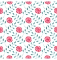 Seamless watercolor pattern with roses on the vector image