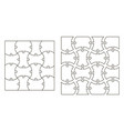 set the template of puzzle pieces vector image