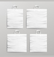 white empty reusable plastic shopping realistic vector image