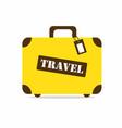 yellow travel bag vector image