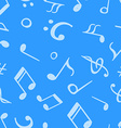 Seamless pattern from hand drawn music notes and vector image
