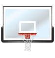 Basketball Backboard and Hoop vector image vector image