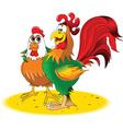 Cartoon rooster design vector image