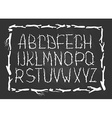 Chalk Alphabet made of branches of tree isolated vector image