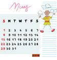 may 2016 kids vector image