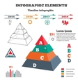 Infographics elements Pyramid solid chart 3D vector image