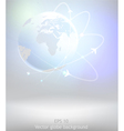 light earth globe vector image vector image