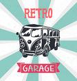 Retro camper van vector image