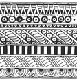 Seamless ornament in ethnic style black and white vector image